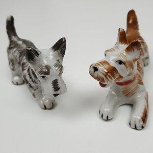 Set of 2 vintage dog figurines